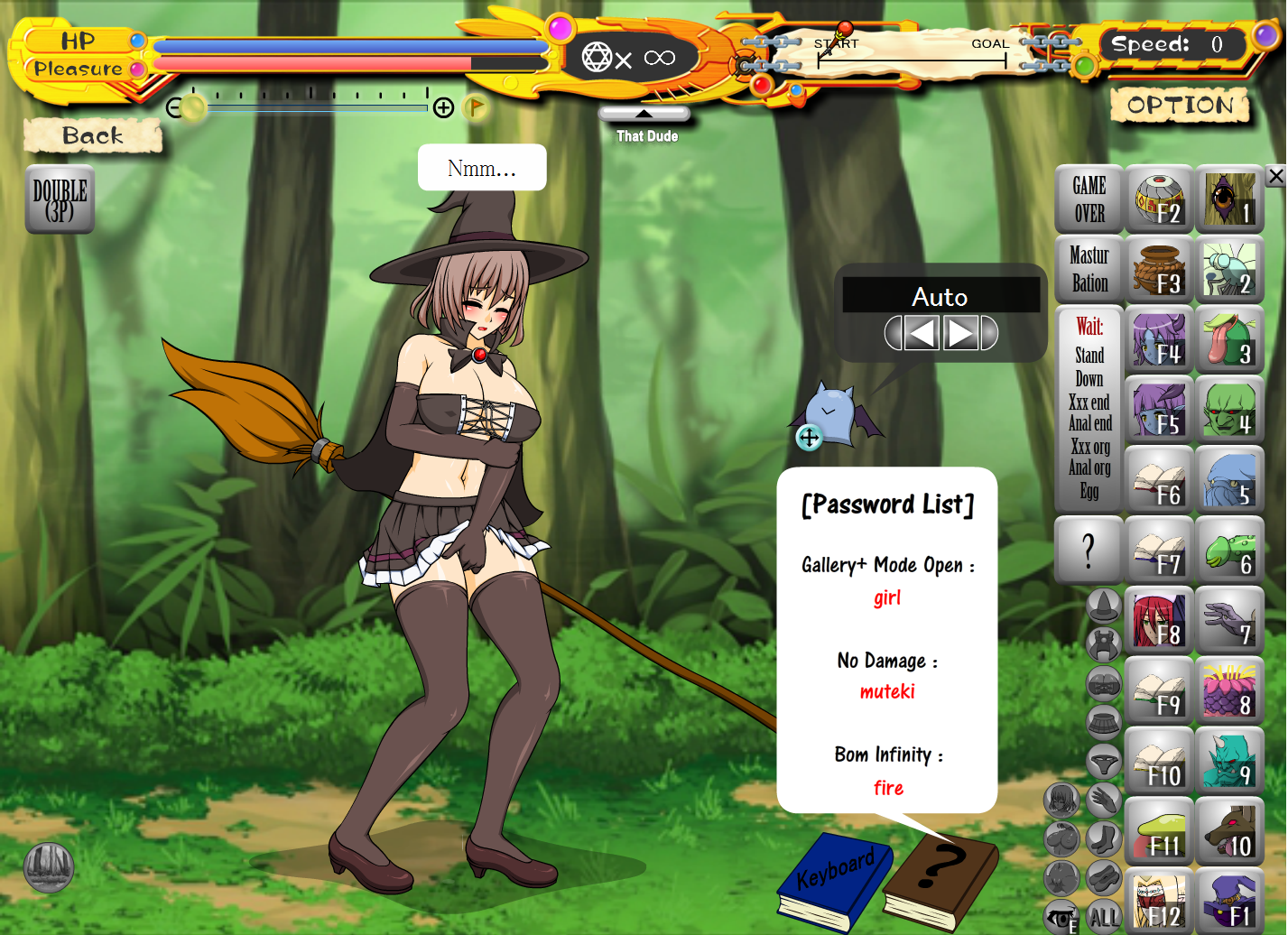 witch girl flash game